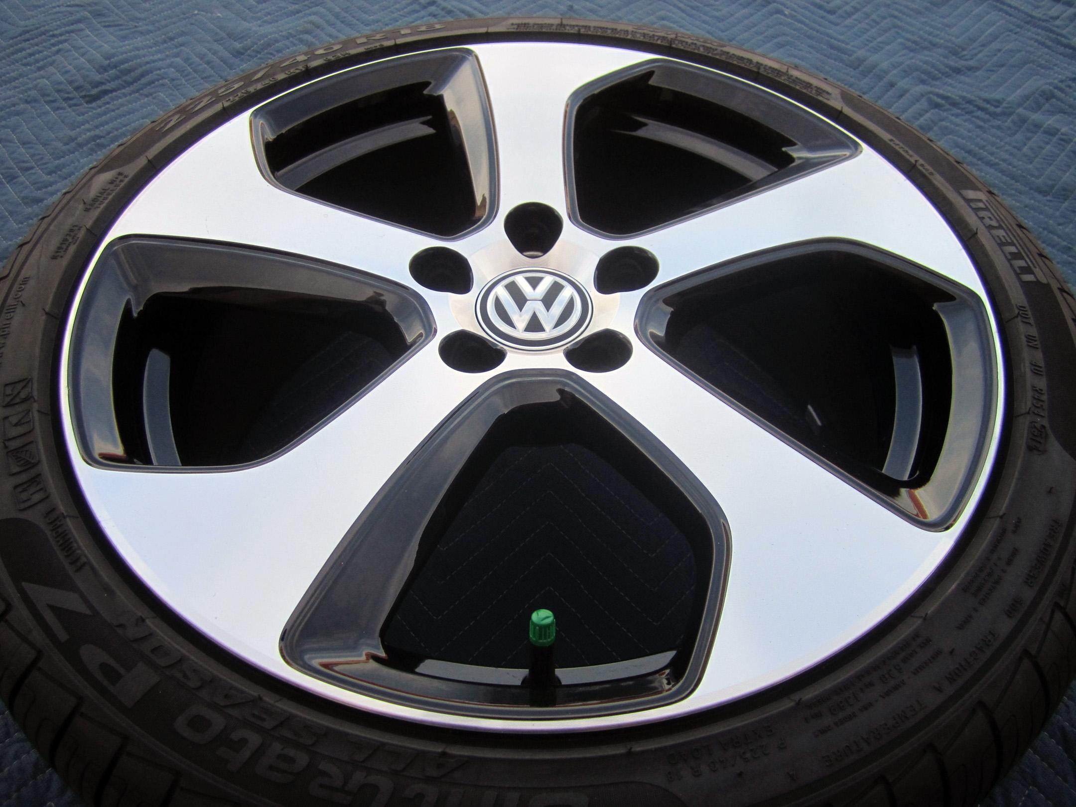 set    volkswagen vw gti  oem factory wheels rims tires