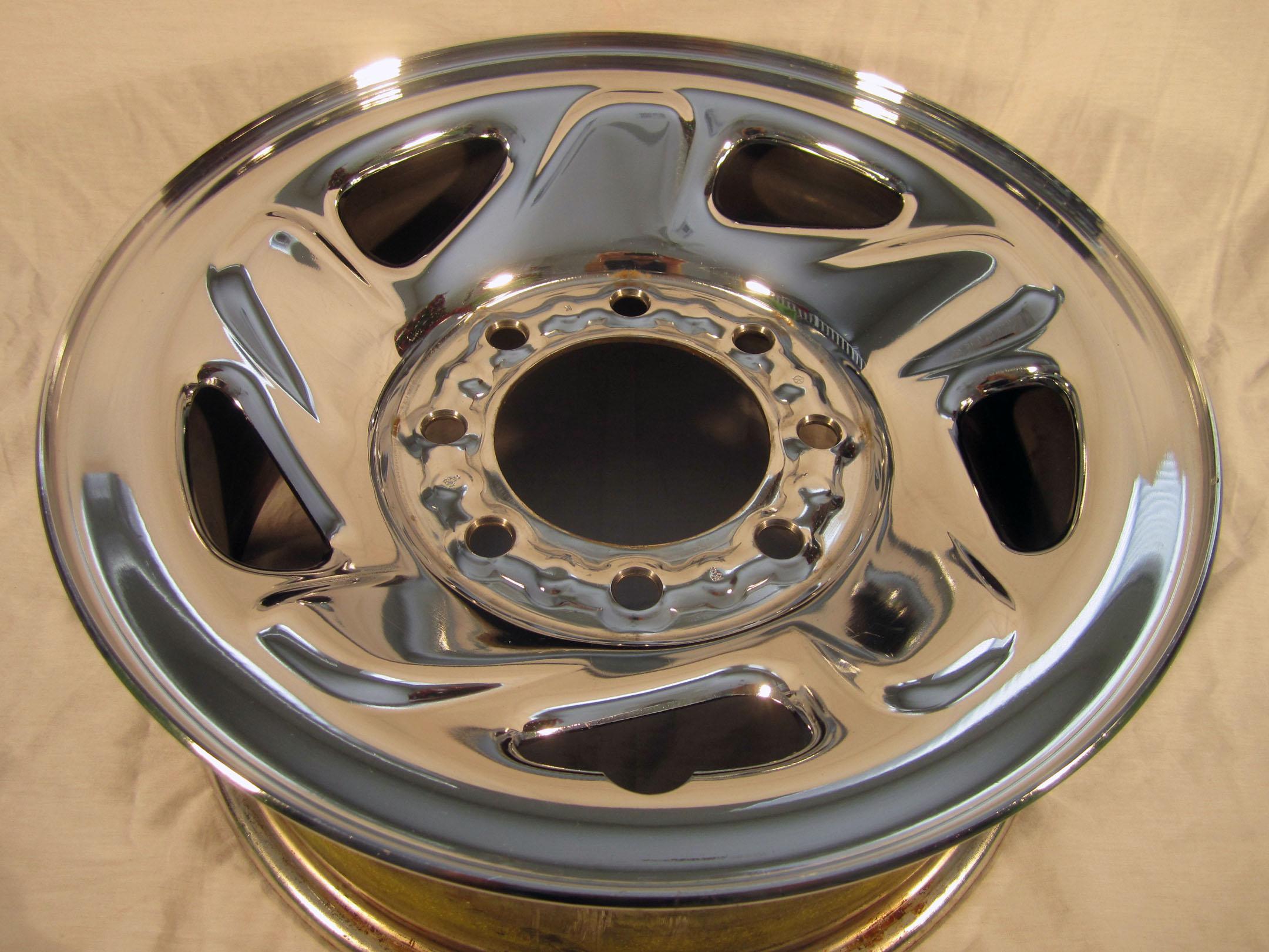 dodge  truck ram van   lug oem stock factory wheel rim chrome steel  ebay